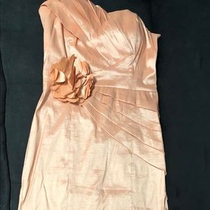 Large peach maxi gown